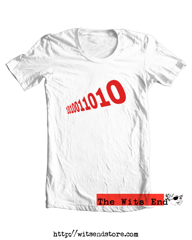 The Number of The Beast - in binary example tee shirt