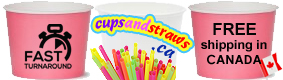 Free Shipping in Canada for Cups, Straws, Spoons and Napkins