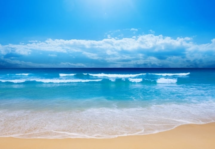 1920X1080 Blue Waves Beach Wallpaper1080P Hd