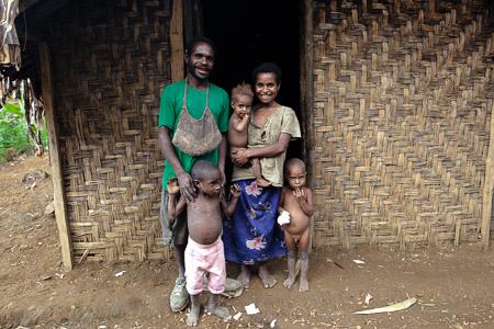 Geenkai's family, Papua New Guinea