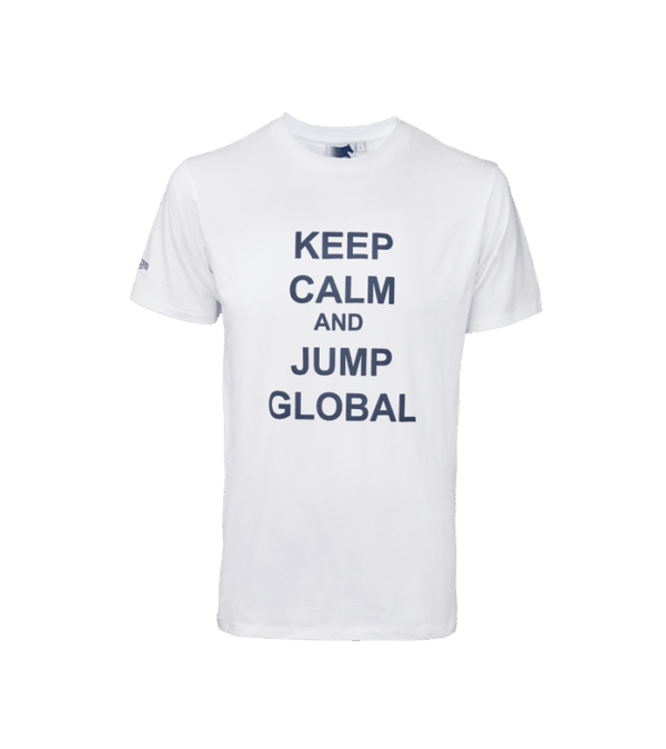 Keep calm t-shirt white