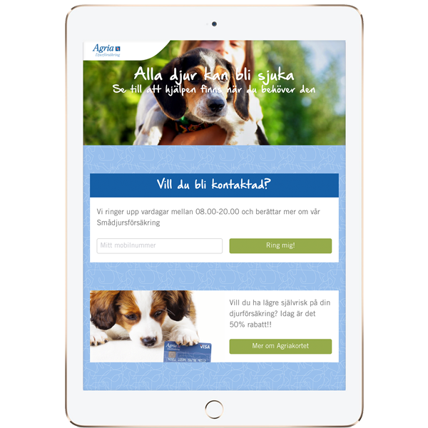 Agria-globalmouth-agriamaten-developed iPads app customer pets quick easy