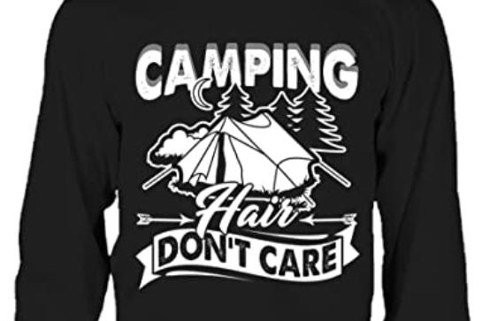 Camping Hair T Shirt