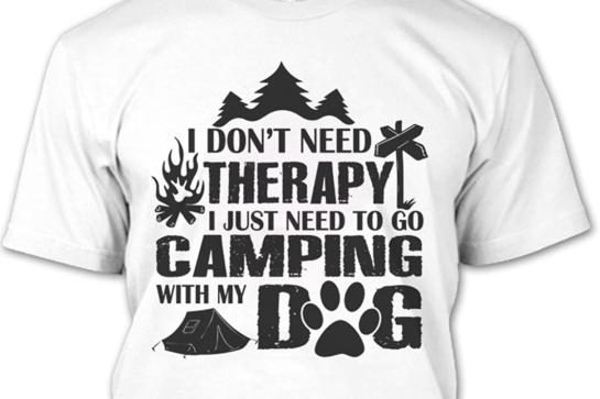 Camping T Shirt Kamperen Met De Hond