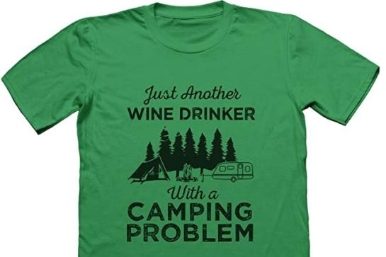 Camping Wijn T Shirt
