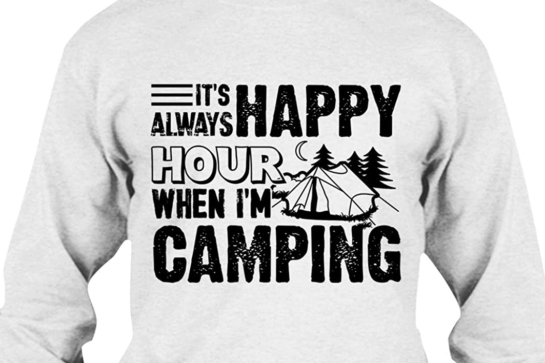 Happy Hour Camping T Shirt