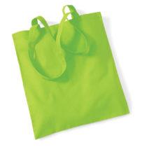 Draagtas Katoen Lang Handvat Lime Green