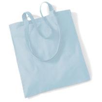 Draagtas Katoen Lang Handvat Pastel Blue
