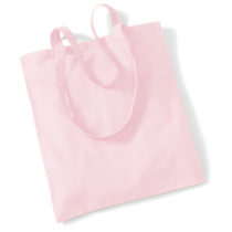 Draagtas Katoen Lang Handvat Pastel Pink