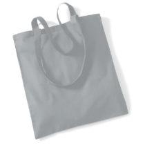 Draagtas Katoen Lang Handvat Pure Grey