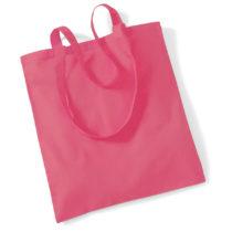 Draagtas Katoen Lang Handvat Raspberry Pink