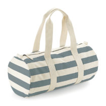 W688 Nautical Barrel Bag Natural Grey