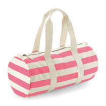 W688 Nautical Barrel Bag Natural Pink