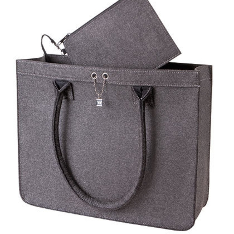 Hf 7556 Halfar City Shopper Modern Classic Vilt Grey