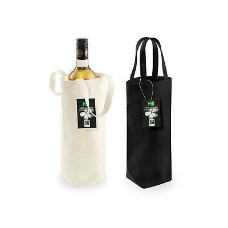 W620 Fairtrade Cotton Bottle Bag Katoenen Flessentas