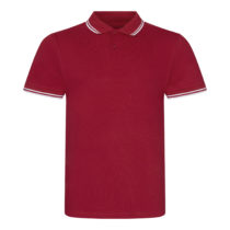 Jp003 Stretch Tipped Herenpolo Red White Torso