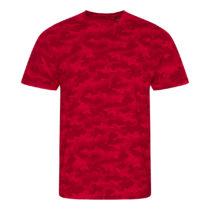 Jt034 Camo Heren T Shirt Red Camo