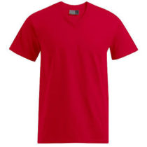 E3025 Heren T Shirt Promodoro Met V Hals Fire Red