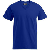 E3025 Heren T Shirt Promodoro Met V Hals Royal Blue