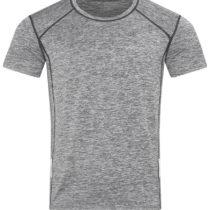 Heren Sport T Shirt Stedman Reflect St8840 Grey Heather