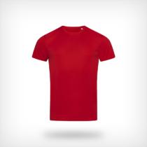 St8000 Heren Sport T Shirt Stedman Crimson Red