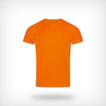 St8000 Heren Sport T Shirt Stedman Cyber Orange