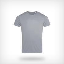 St8000 Heren Sport T Shirt Stedman Silver Grey