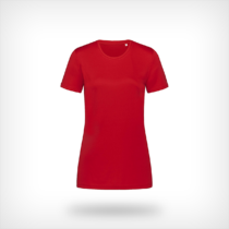 St8100 Dames Sport T Shirt Stedman Crimson Red
