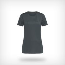 St8100 Dames Sport T Shirt Stedman Granite Grey
