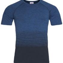 St8810 Heren Sportshirt Stedman Raglan Seamless Flow Blue Transition