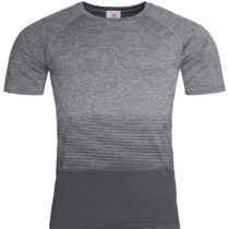 St8810 Heren Sportshirt Stedman Raglan Seamless Flow Light Grey Transition