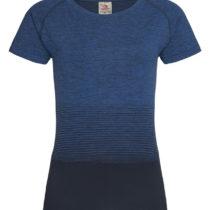 St8910 Dames Sportshirt Stedman Raglan Seamless Flow Blue Transition