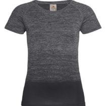 St8910 Dames Sportshirt Stedman Raglan Seamless Flow Dark Grey Transition