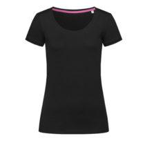 St9130 Dames T Shirt Stedman Megan Crewneck Black Opal