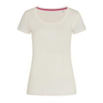St9130 Dames T Shirt Stedman Megan Crewneck Creme White