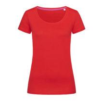St9130 Dames T Shirt Stedman Megan Crewneck Crimson Red