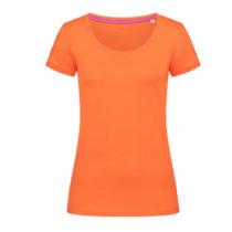 St9130 Dames T Shirt Stedman Megan Crewneck Pumpkin Orange
