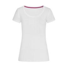 St9130 Dames T Shirt Stedman Megan Crewneck White