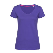 St9130 Dames T Shirt Stedman Megan V Neck Deep Lilac