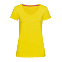 St9130 Dames T Shirt Stedman Megan V Neck Yellow
