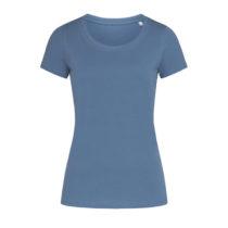 St9310 Dames T Shirt Organic Stedman Janet Crewneck Denim Blue