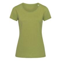 St9310 Dames T Shirt Organic Stedman Janet Crewneck Earth Green