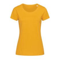 St9310 Dames T Shirt Organic Stedman Janet Crewneck Indian Yellow