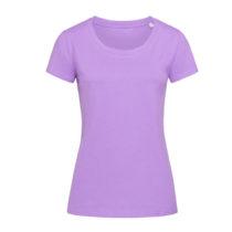 St9310 Dames T Shirt Organic Stedman Janet Crewneck Lavender Purple