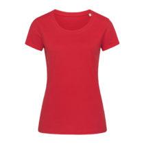 St9310 Dames T Shirt Organic Stedman Janet Crewneck Pepper Red