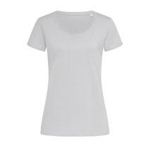 St9310 Dames T Shirt Organic Stedman Janet Crewneck Soft Grey