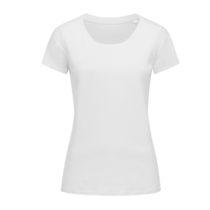 St9310 Dames T Shirt Organic Stedman Janet Crewneck White
