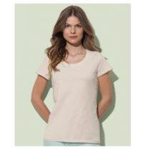 St9310 Dames T Shirt Organic Stedman Janet Crewneck Winter White