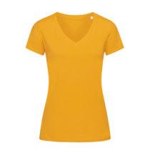 St9310 Dames T Shirt Organic Stedman Janet V Neck Indian Yellow
