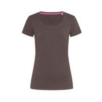 St9700 Dames T Shirt Stedman Claire Crewneck Dark Chocolate